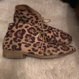 Cheetah booties